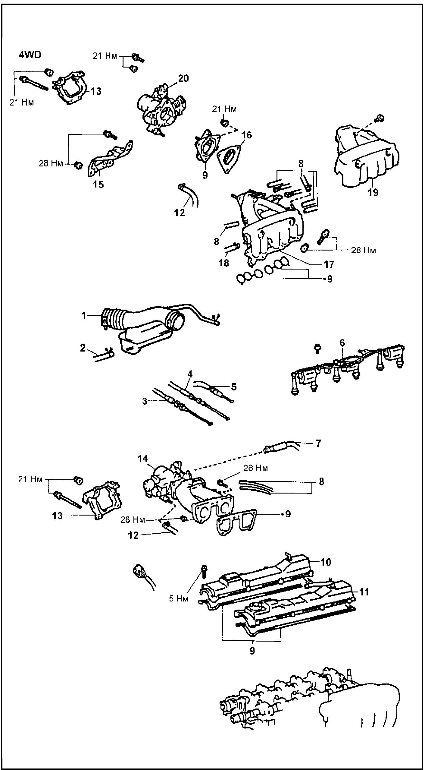 Крышка головки блока цилиндров 1JZ-GE, 2JZ-GE