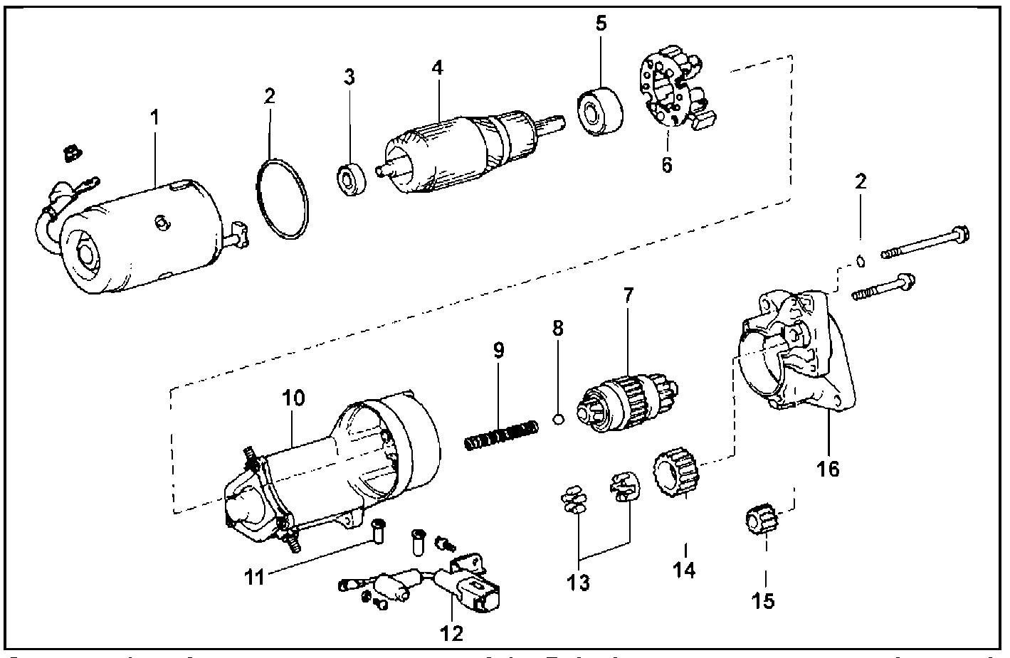 Стартер с обычным редуктором, 2,0 кВт