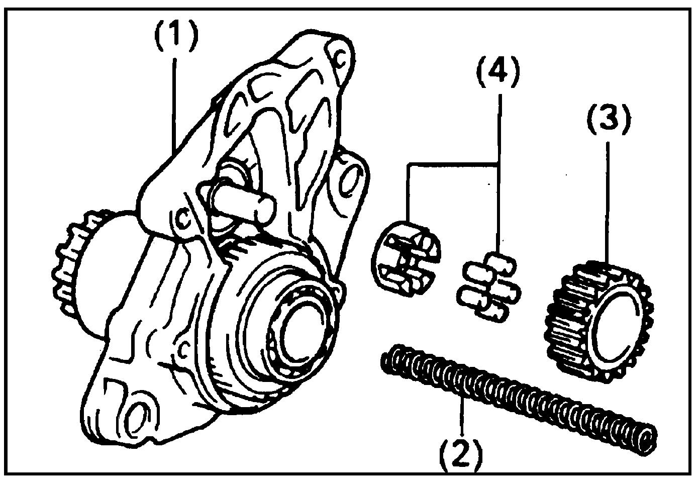 Обгонная муфта, промежуточная шестерня и подшипник стартера