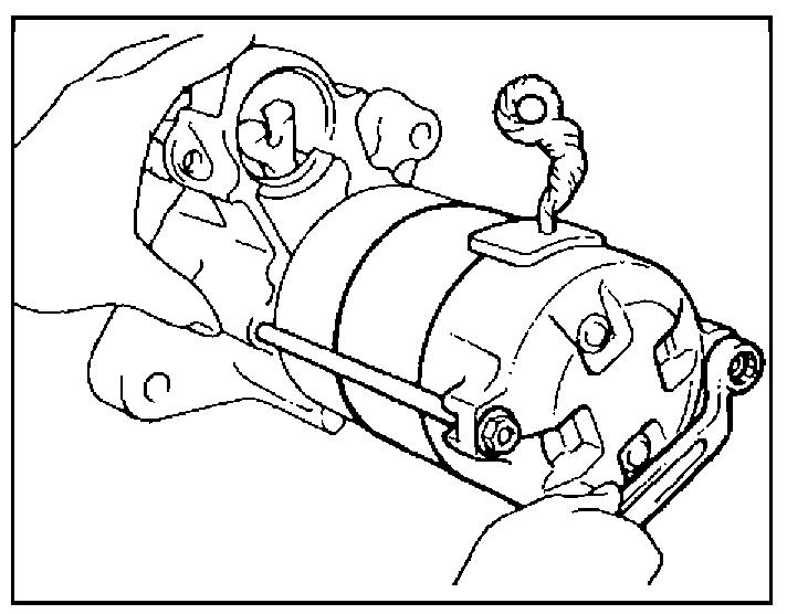Стяжка корпуса стартера