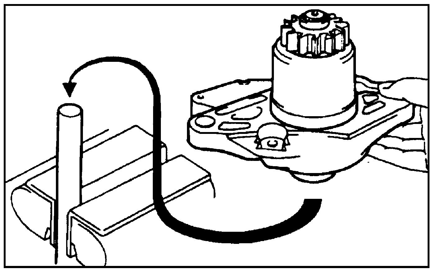 Установка крышки стартера для снятия бендикса