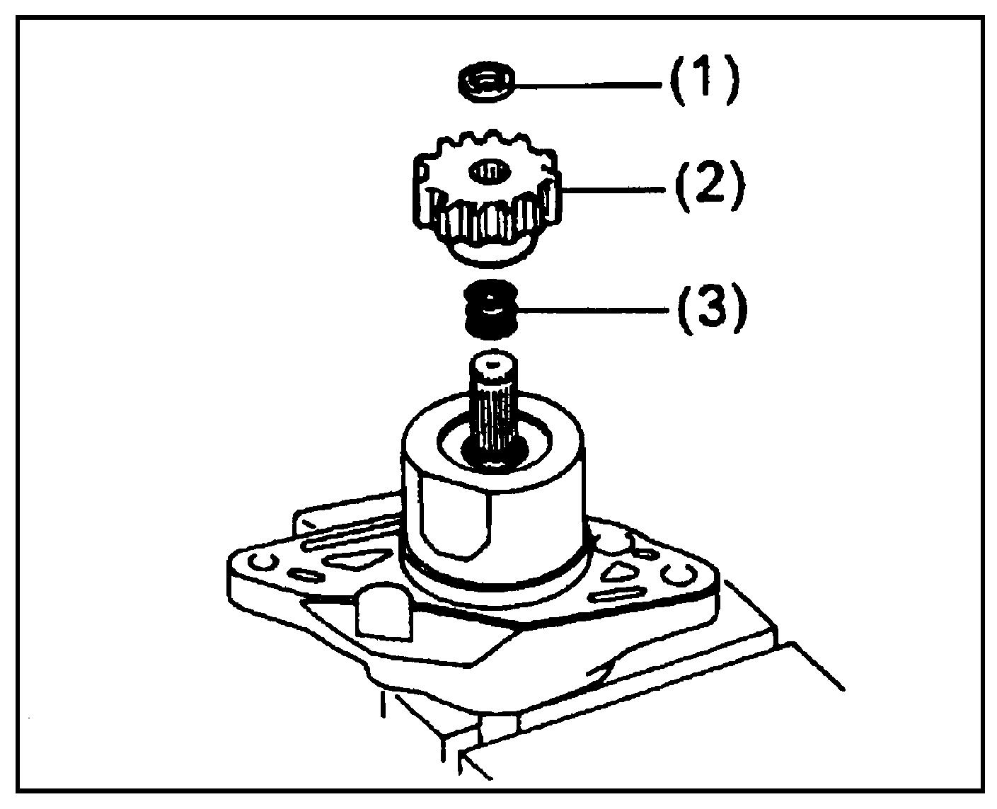 Детали передней крышки стартера
