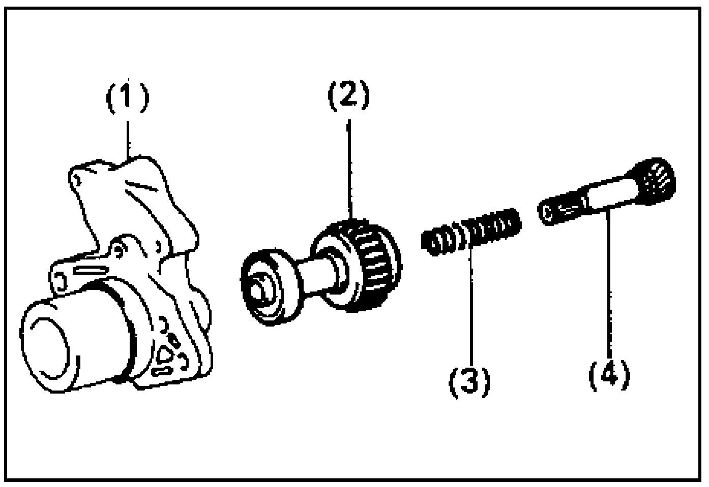 Обгонная муфта, пружина и валик обгонной муфты