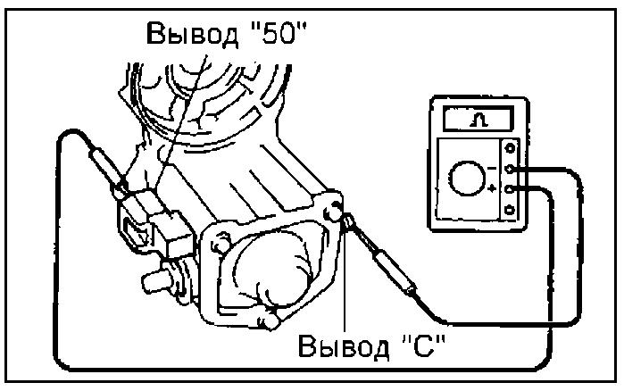 Проверка обмотки тягового реле на обрыв