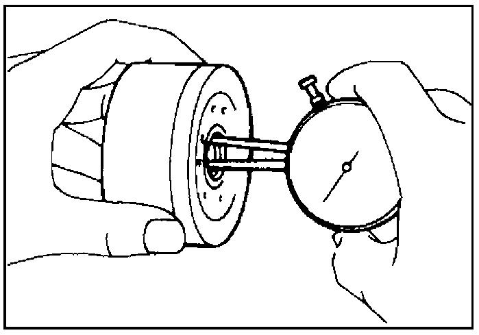 Измерение внутреннего диаметра подшипника