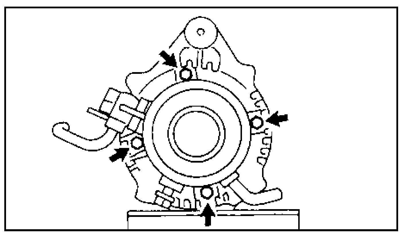Болты крепления вакуумного насоса