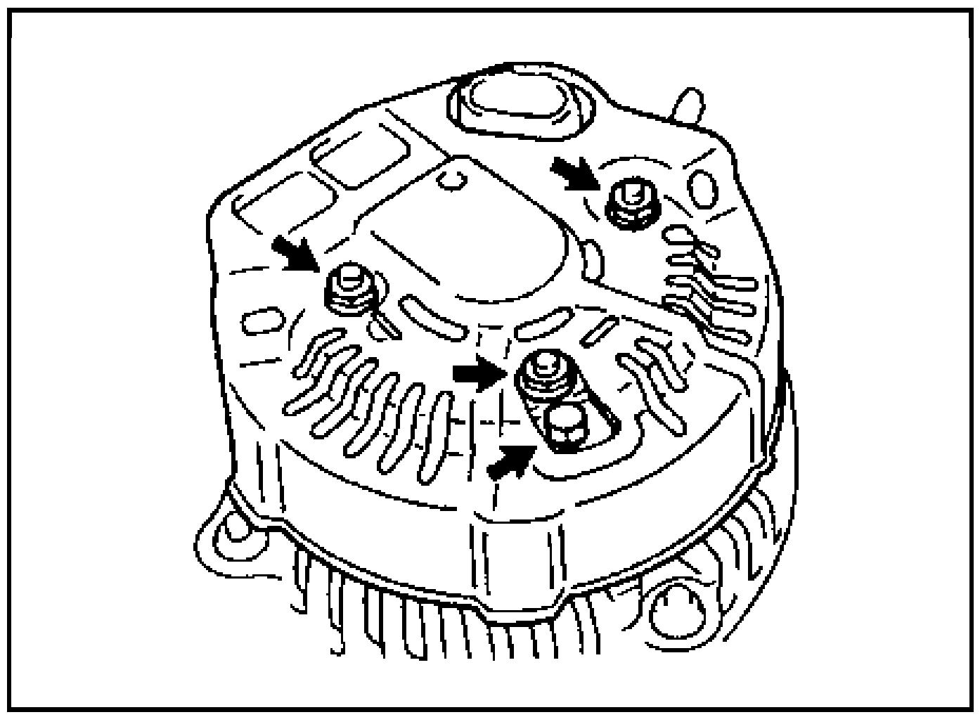 Гайки крепления задней крышки генератора