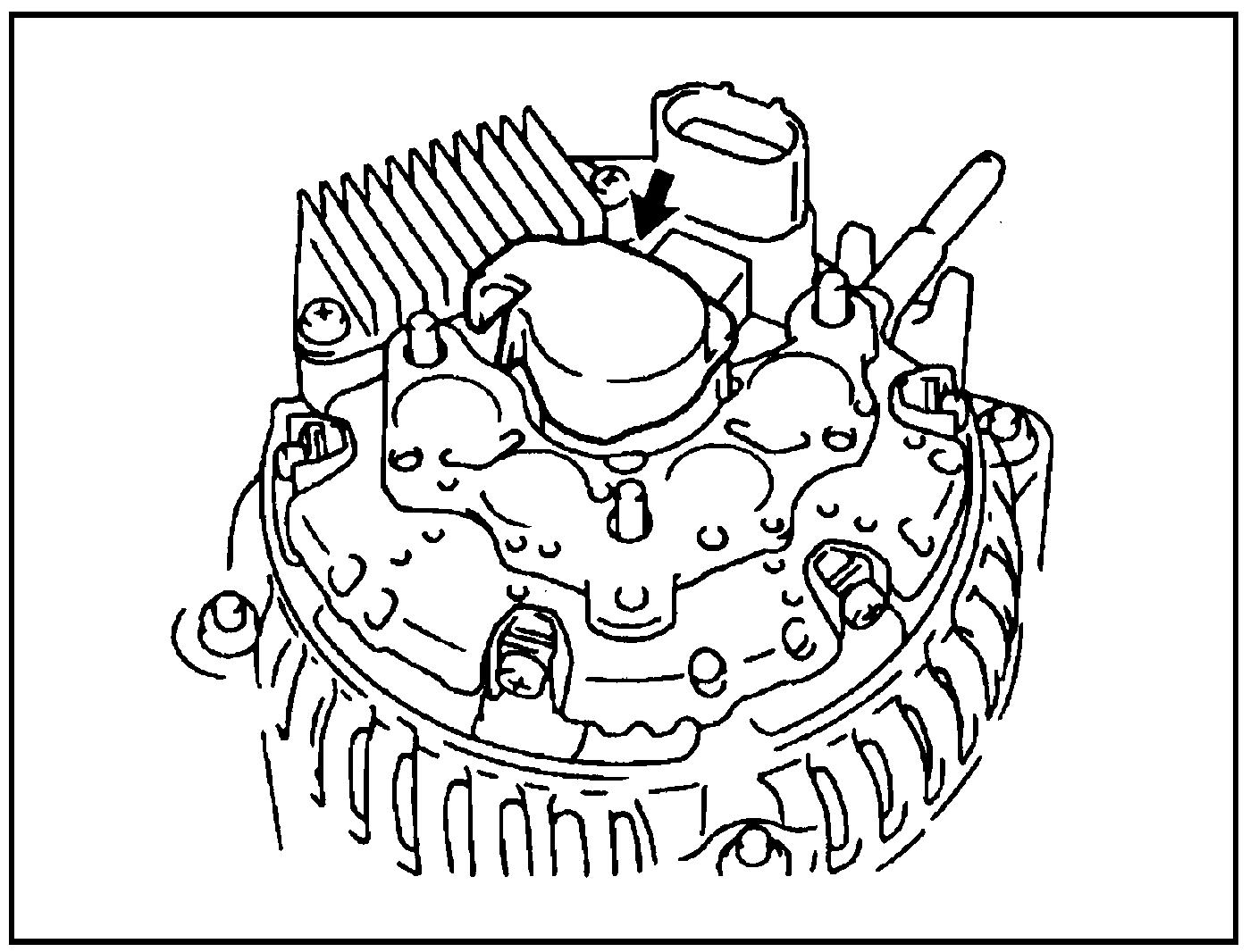 Снятие крышки щёткодержателя