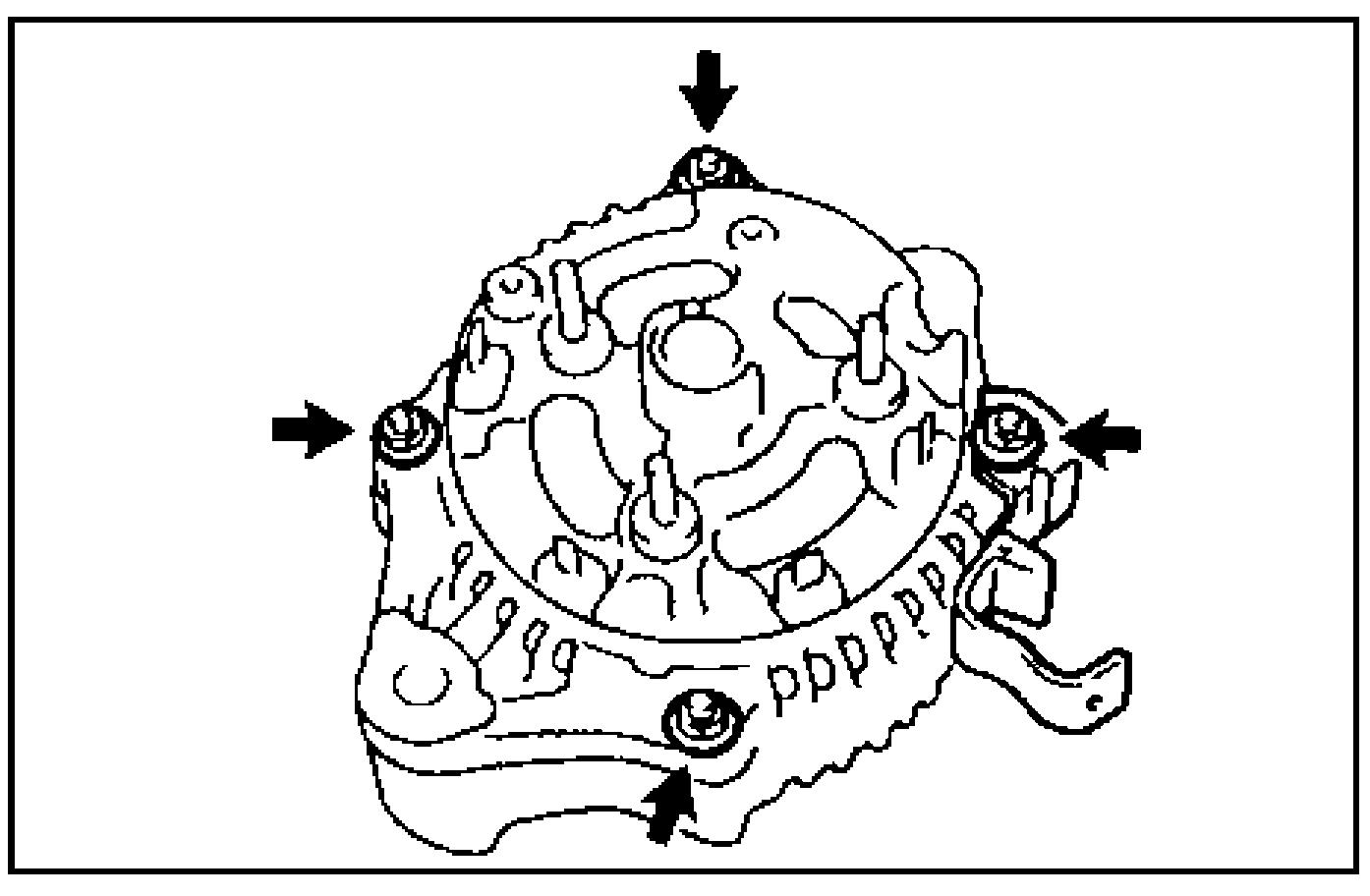 Снятие крышки  со стороны выпрямительного блока