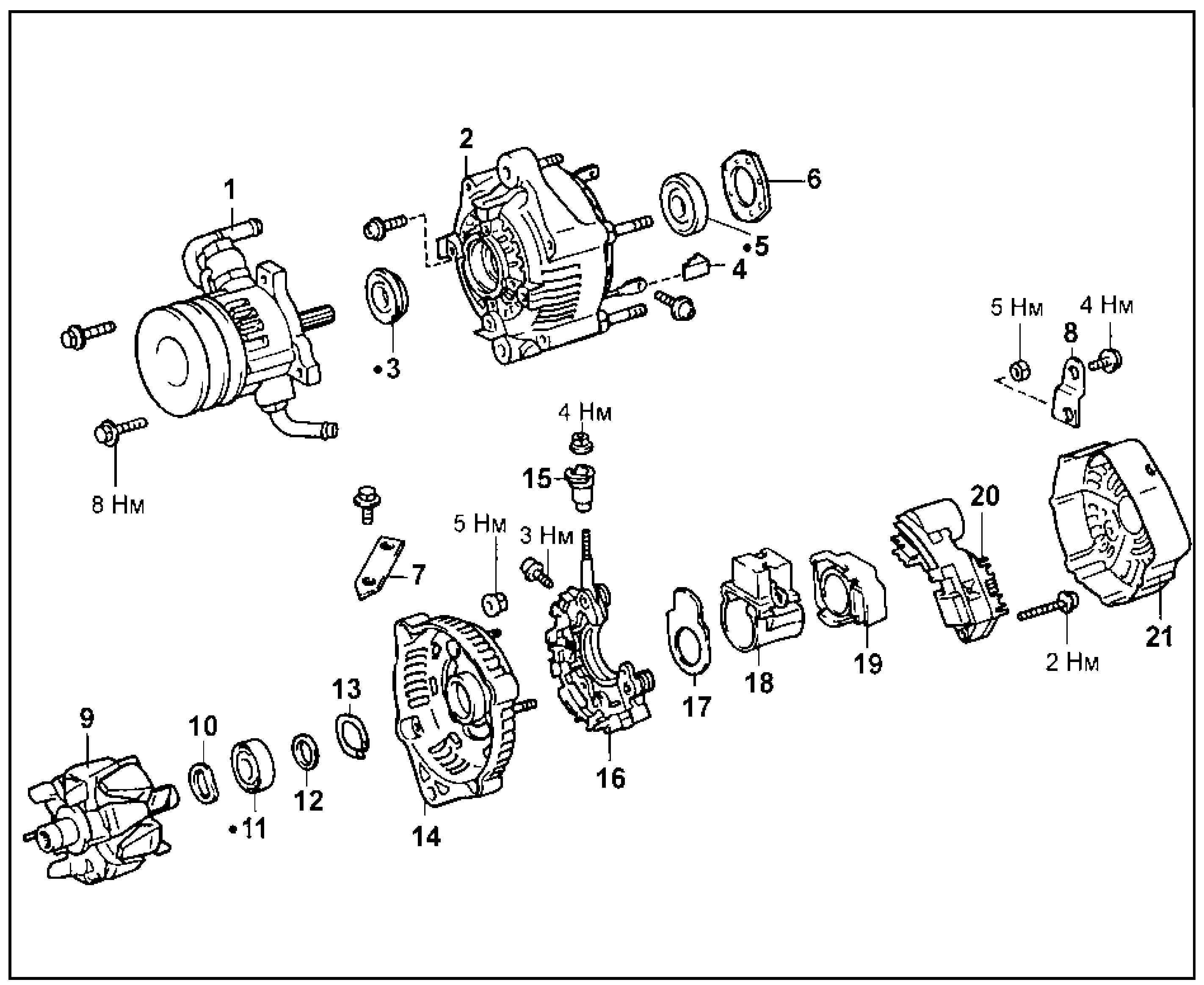 Генератор (тип С, 2L-TE)