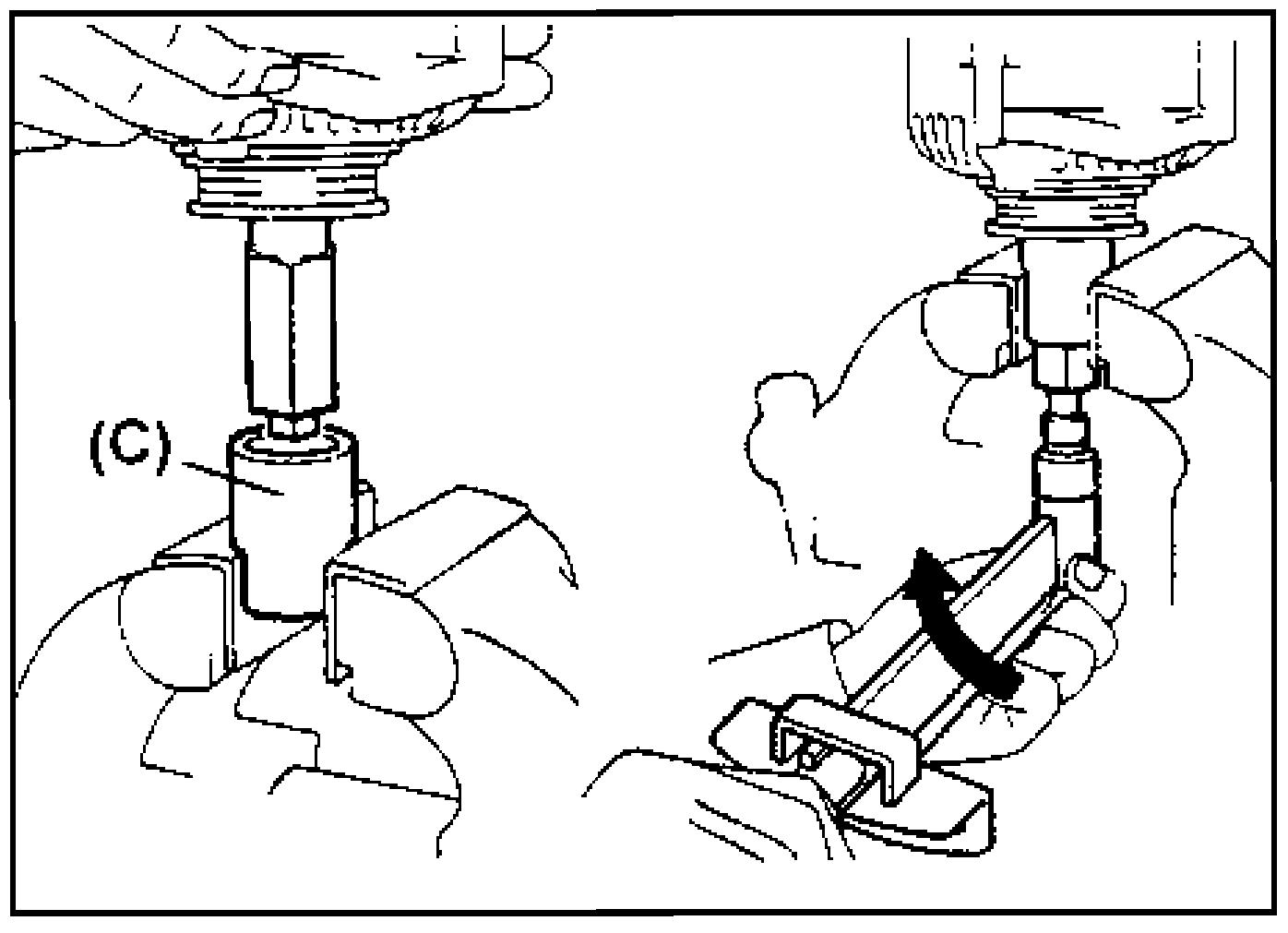 Затяжка гайки крепления шкива