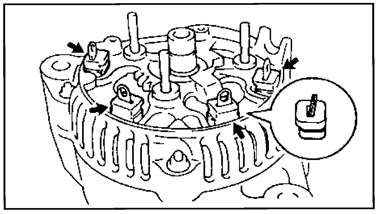 Установка изоляторов на выводы генератора