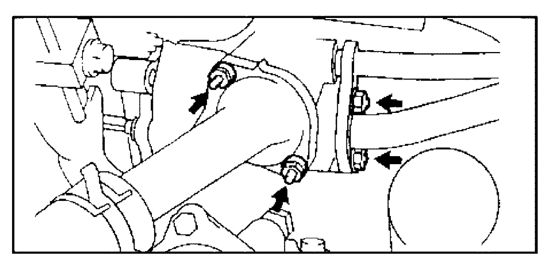 Снятие перепускной трубки 4S-FE