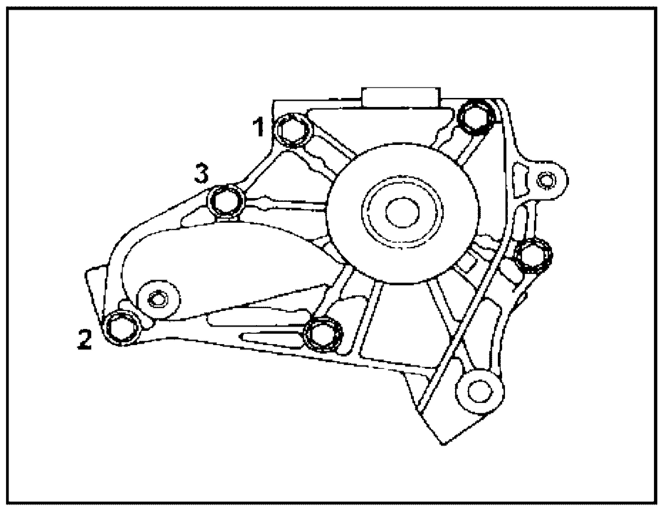 Порядок затяжки болтов помпы 4S-FE