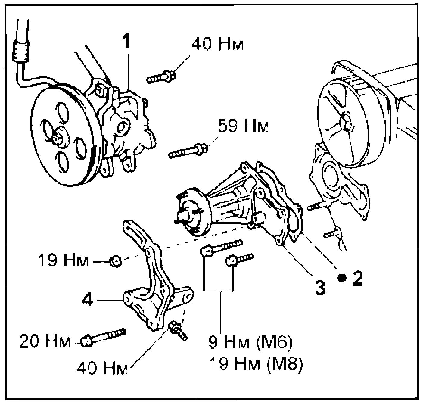 Снятие и установка насоса охлаждающей жидкости 1G-FE