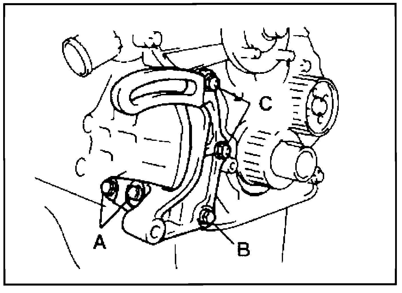 кронштейн насоса гидроусилителя 1G-FE