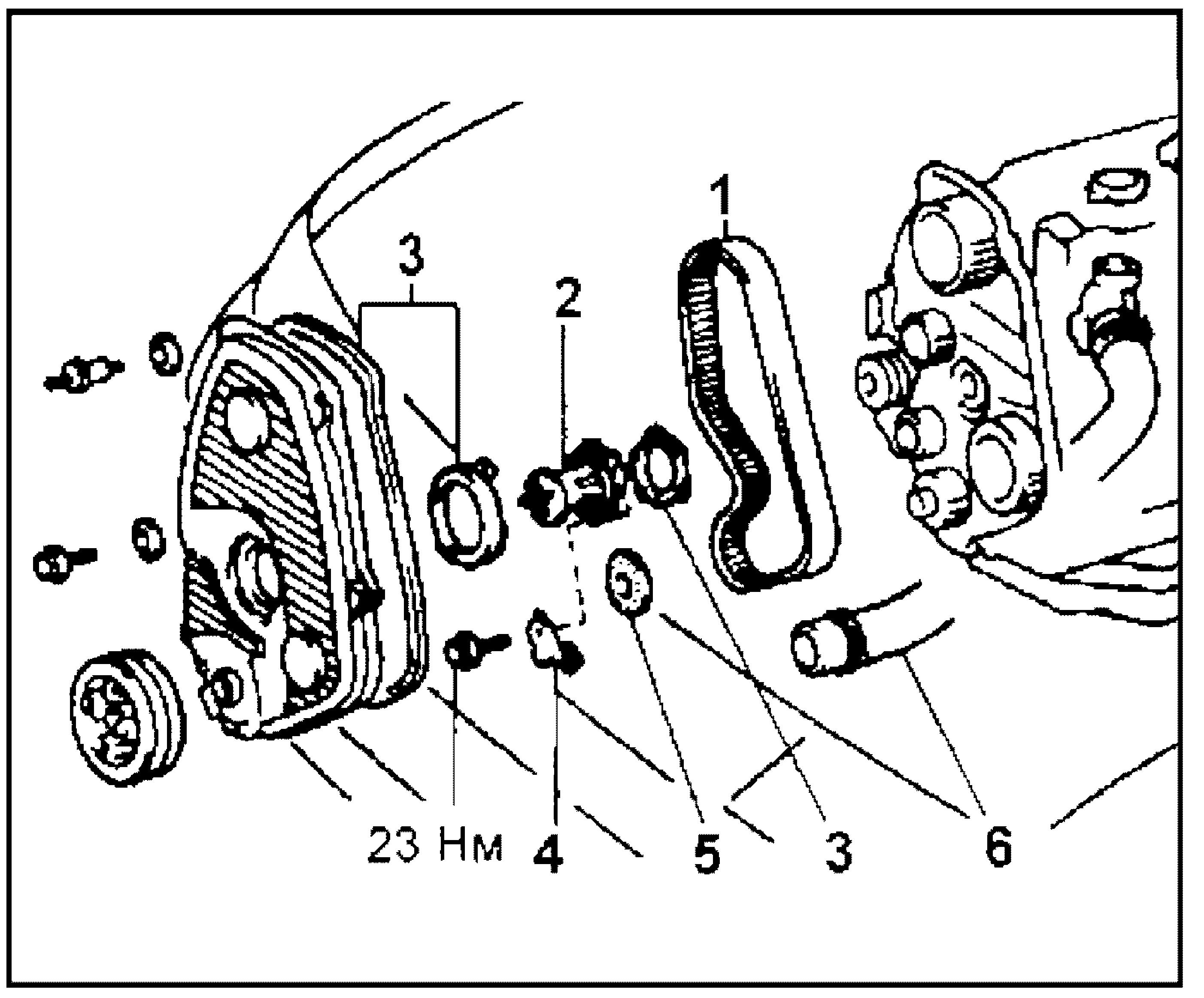 Снятие и установка помпы 2L-TE