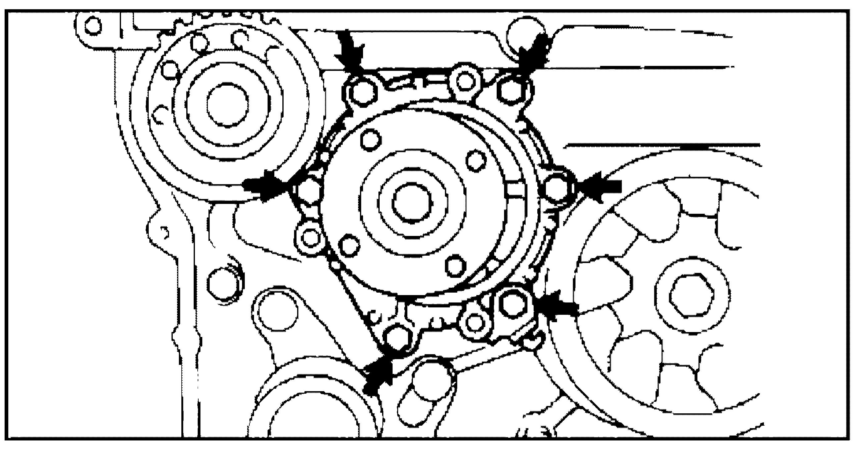 Болты крепления помпы  2L-TE