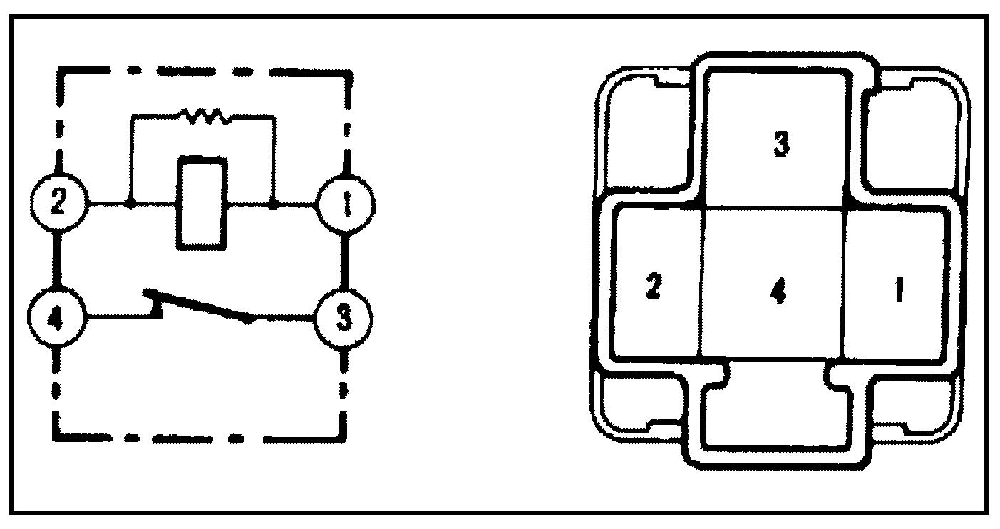 Реле №1 электровентилятора 4S-FE