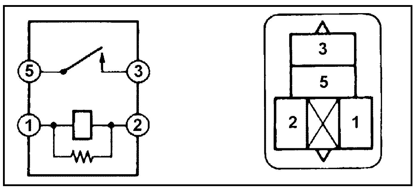 Реле №3 электровентилятора 4S-FE